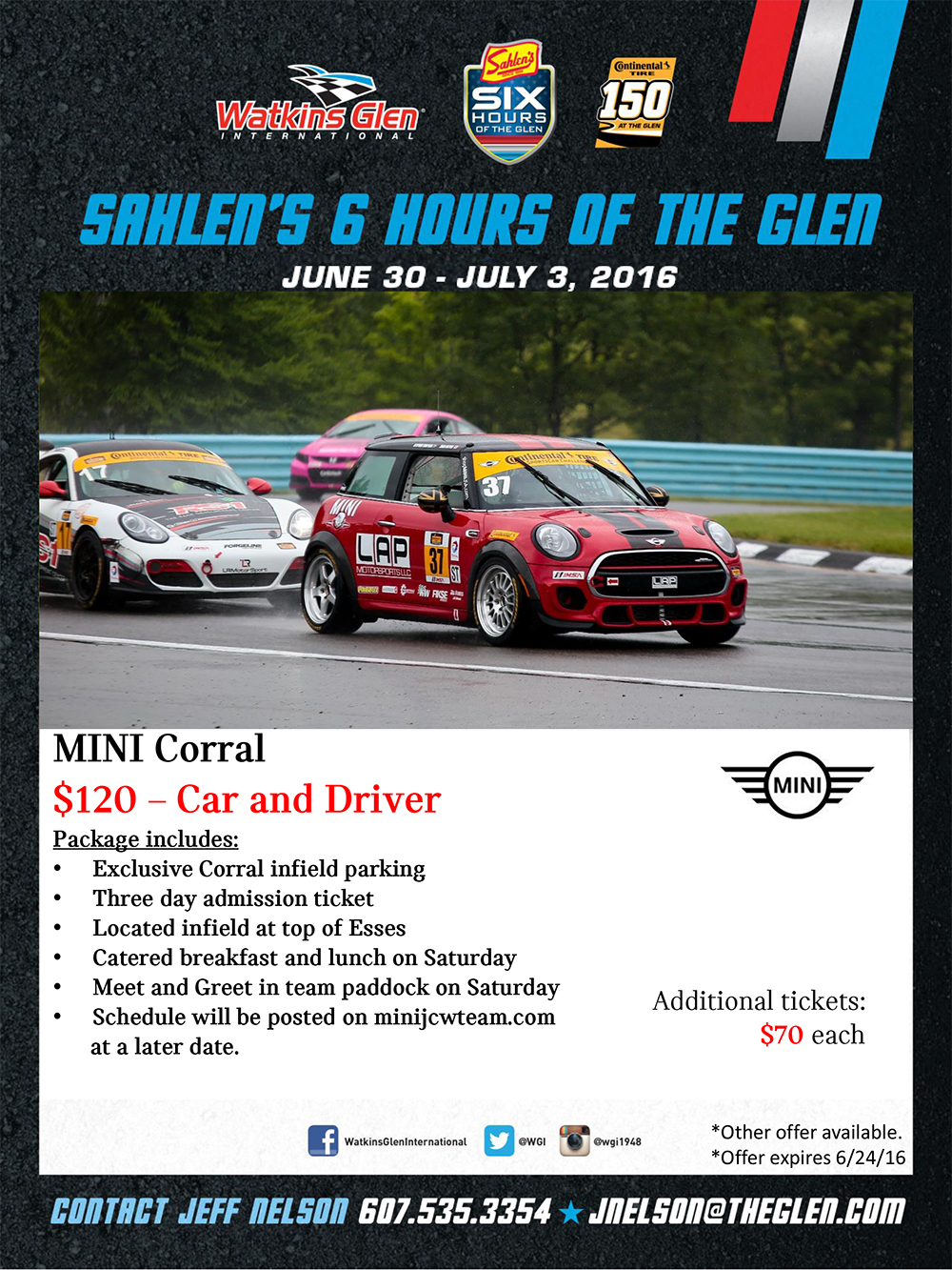 Watkins Glen MINI Corral Schedule