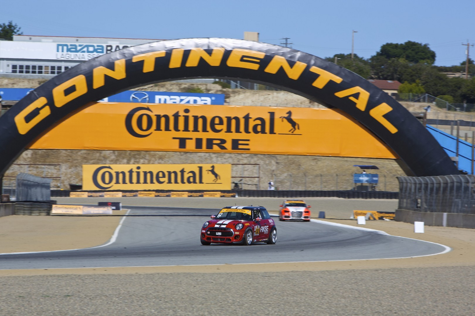 MINI John Cooper Works car #37 finishes 10th at Laguna Seca