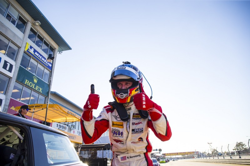 Nate Norenberg MINI USA Pole Position at Sebring