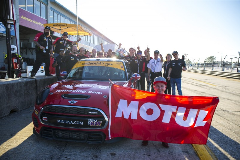Nate Norenberg takes Pole Position for MINI JCW Team at Sebring for the Alan Jay Automotive Network 120