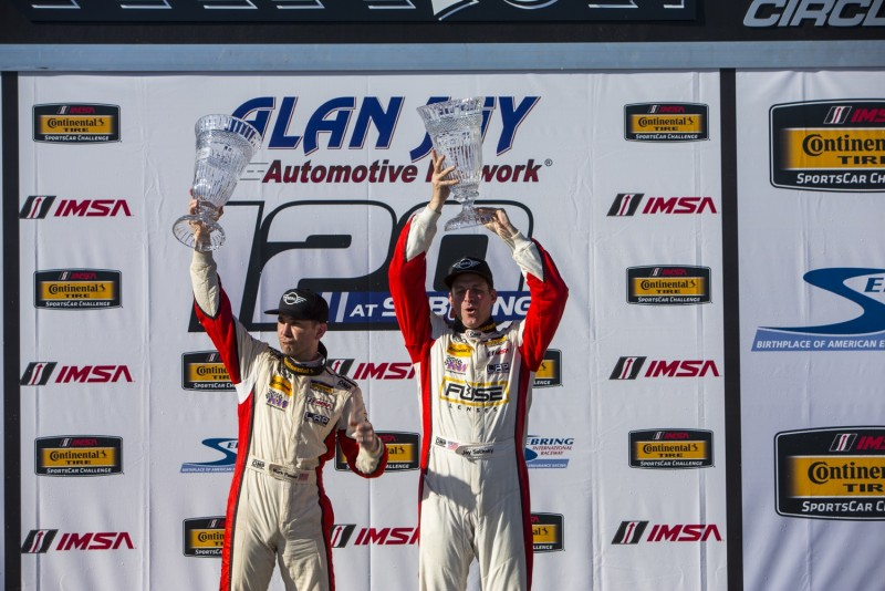 MINI JCW Team 1 - 2 finish at Sebring for the Alan Jay Automotive Network 120