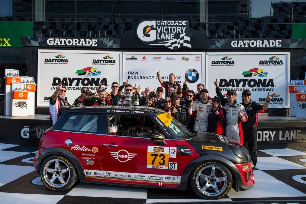 MINI JCW Team Wins Their First IMSA Continental Tire SportsCar Challenge Series Race at Daytona
